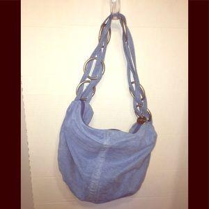 Lulu's Soft Blue Hobo W/ 6 Ring Woven Strap